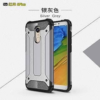 Case for Xiaomi Redmi 5A Case Rugged Tough Dual Layer Armor Case Cover for Xiaomi Redmi 5A, Heavy Duty Hard Case Impact Protection +2 Pieces Screen Protector (Grey)
