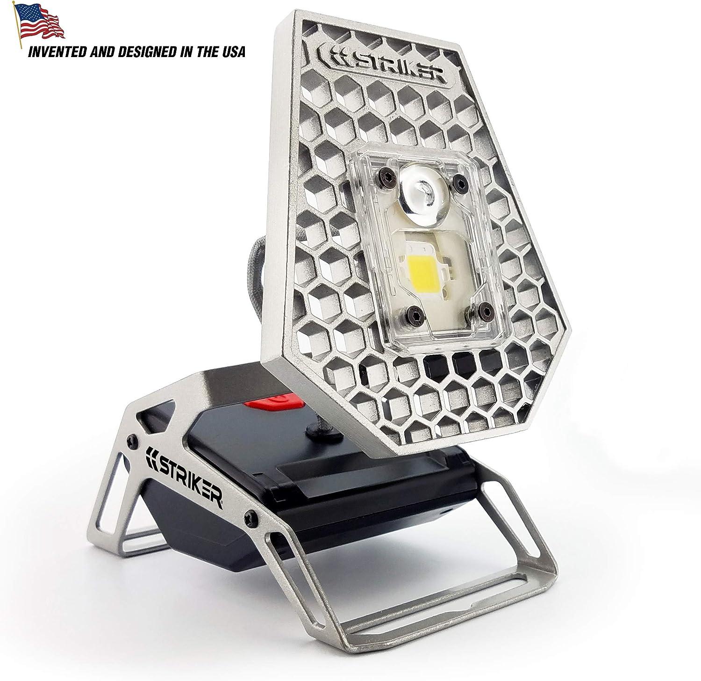Striker Concepts 00173 Striker Modern Mobile Task Light, 1200 Lumens, for Home and Camping Silver