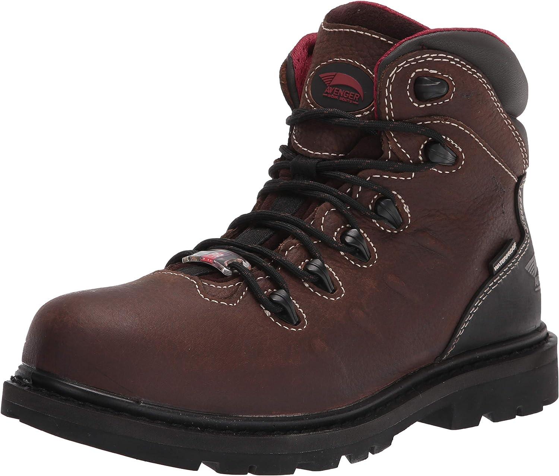 Avenger Work Boots Hammer A7546 Men's Carbon Toe EH PR Waterproof Work Boots, 9.5 M