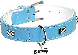 Dogue D BH Bones Dog Collar, Blue, 55