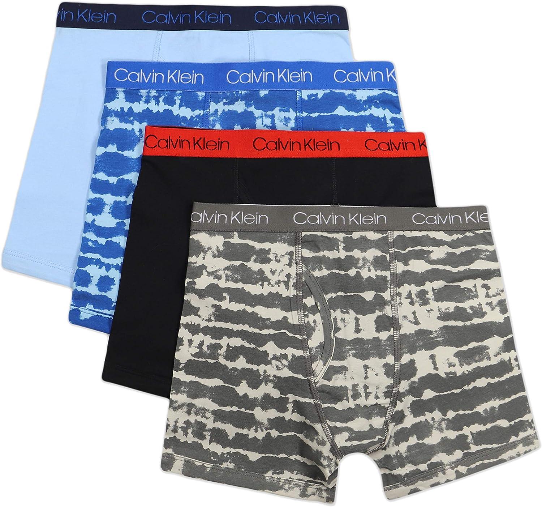 Calvin Klein Boys Underwear 4 Pack Boxer Briefs Value Pack