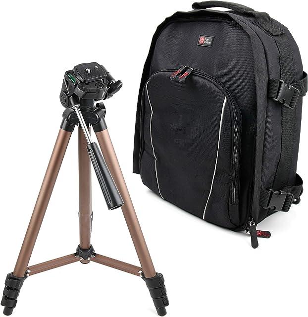 DURAGADGET Mochila + Trípode Profesional para Cámara Canon EOS 200D / Rebel SL2 Canon EOS 4000D Canon EOS 5D Mark IV Canon EOS 6D Mark II Canon EOS 77D