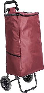 comprar comparacion AmazonBasics - Carrito de la compra con 2 ruedas, 40 litros, color rojo