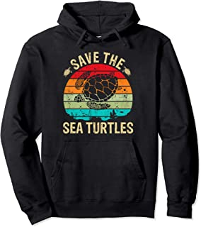 Vintage Save The Sea Turtles Shirt Turtle Lover Skip A Straw Pullover Hoodie