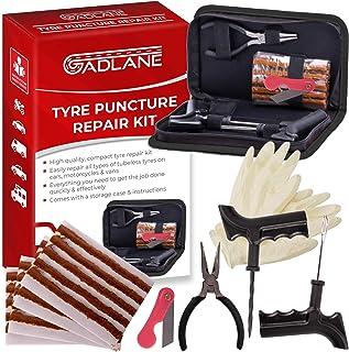 GADLANE Kit Repara Pinchazos De Reparación De Emergencia para Pinchazos De Neumáticos Herramientas para Neumáticos Desinflados 7 Piezas Sin Cámara para Auto Car Moto Camión ATV Jeep Tractor