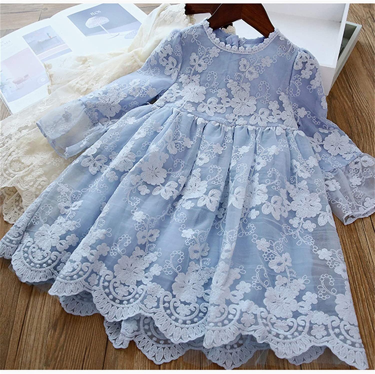 Comfortable and Exquisite Dress Princess Girls Dress Girls Clothes Children Clothing Summer Party Tutu Kids Dresses for Girls Toddler Girls Casual Dress 3 8T (Color : Style 9 Blue, Kid Size : 4T)