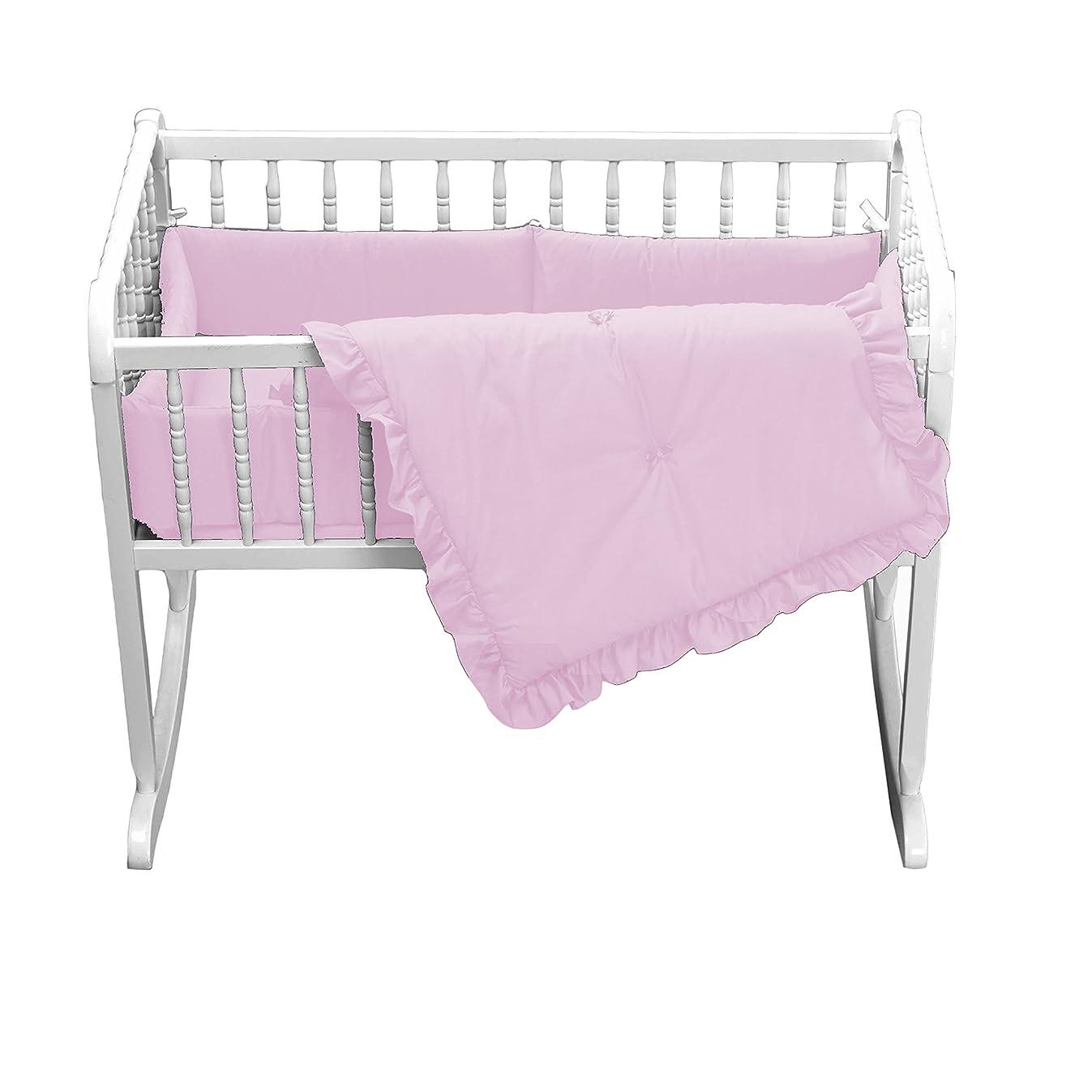 Babydoll Primary s Cradle Bedding, Pink, 15