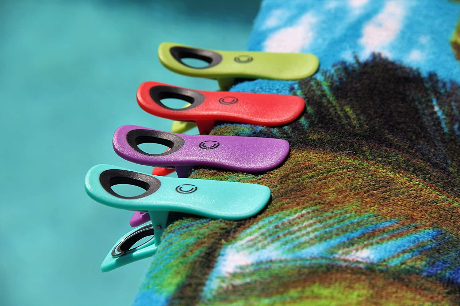"""Beach Towel Clips for Pool Chairs Pink 3/"""" No Rust Stainless Steel Premium Durability and Unmatched Quality Keeps Towel from Blowing Away Beach Chairs and Cruise Ship are Vacation Essentials"""