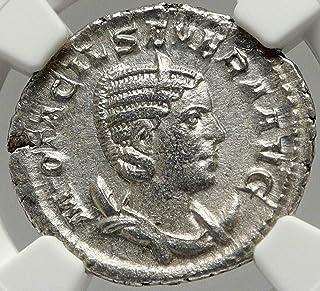 246 IT OTACILIA SEVERA Authentic ANcient 246AD AR Roman coin XF NGC