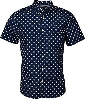 Tommy Hilfiger Men's Custom Fit Short Sleeve Button-Down Shirt