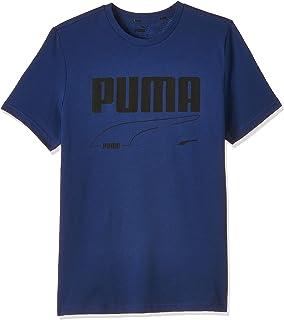 Puma Boys Rebel Tee B T-Shirt, 140, BLUE
