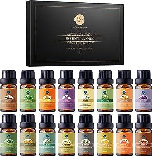 Lagunamoon Essential Oils Gift Set 16 x 10mL Essential Oils for Diffuser Humidifier Sleep Massage Aromatherapy Essential O...