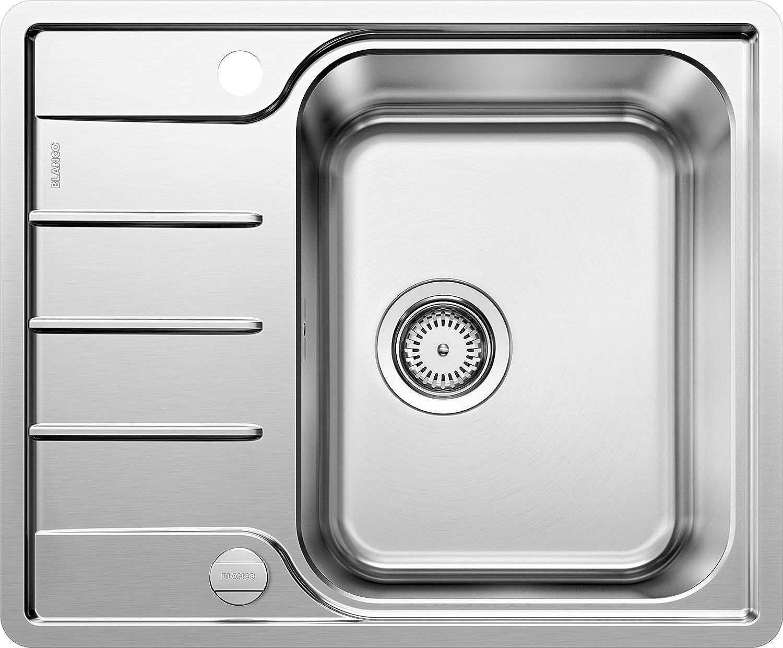 Weiß 525114 LEMIS 45 S-IF Mini Küchenspüle, Edelstahl Bürstfinish, 45 cm Unterschrank