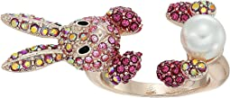 Betsey Johnson - Pink and Rose Gold Bunny Ring