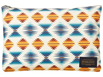 Pendleton Canopy Canvas Big Zip Pouch (Falcon Cove Sunset) Travel Pouch