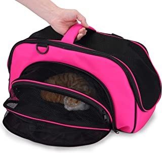 LIFE TRACE Pet Carrier Soft-Sided Handbag for Small Cats and Dogs Carrier Portable Pet Travel Bag Airline Approved Bag Suitable for Under 22LBs Small Animals