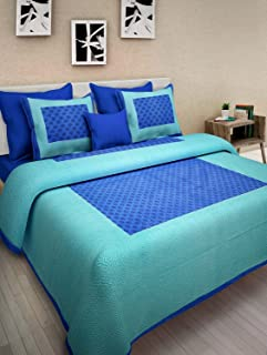 Bed Zone 100% Pure Cotton Supreme Quality King Size Double Bedsheet with 2 Pillow Covers