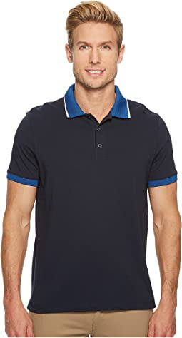 Perry Ellis - Tipped Collar Pima Cotton Polo