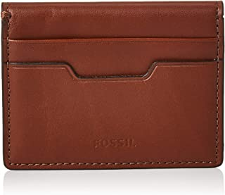 "Fossil Men's Ellis Magnetic Card Case Brown, (ML3999200-200-4""L x 0.38""W x 3""H)"