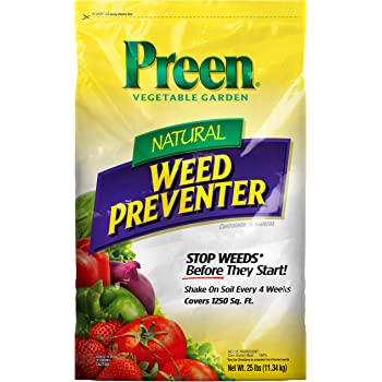 Preen 2464224 Natural Vegetable Garden Weed Preventer, 25 lb - Covers 1,250 sq. ft,