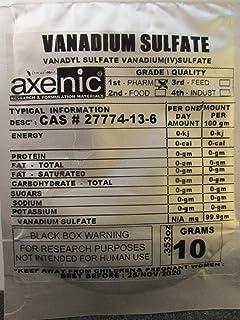 AXENIC Vanadium SULFATE, 10 Grams Powder - Pure - Vanadyl SULFATE Vanadium(iv) SULFATE