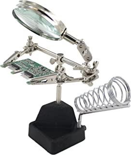 MIYAKO Solder Helping Hand with Magnifying Glass and Soldering Iron Stand (HH-4)