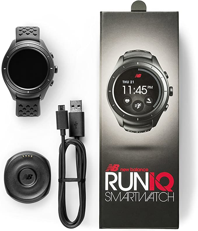 New Balance RunIQ SmartWatch Montre Connectée Intelligente – Noir ...
