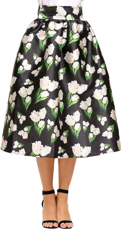 ALine Pleated Vintage Skirts Women