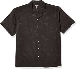 Van Heusen Air Tropical Short Sleeve Button Down Poly Rayon Shirt Camisa Abotonada para Hombre