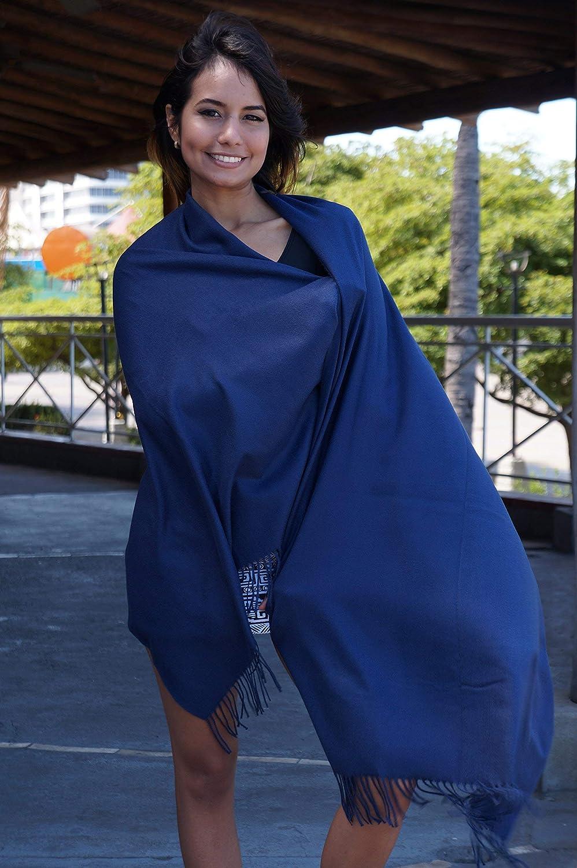 Kuckuck Schal Damen aus 70% Baumwolle, 10+ Winter Schals Dunkelblau 2020 Neu