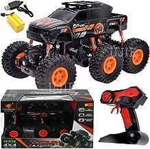 Jack Royal 1:16 Scale 6 Wheels 2.4GHz High Speed 4WD Remote Control Rock Crawler Car (Multi-Color) Orange