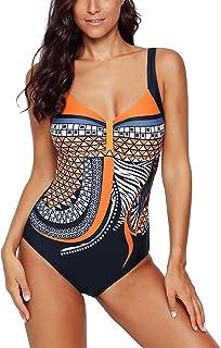 Aleumdr Women's Push-Up Swimwear, Figure-Shaping, Bandeau, Large Sizes, Backless, S - XXL