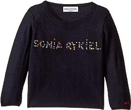 Sonia Rykiel Kids - Long Sleeve Sweater w/ Embellished Logo (Toddler/Little Kids)