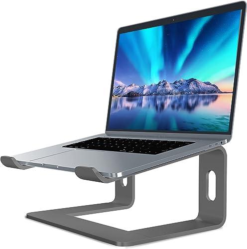 Soundance Aluminum Laptop Stand for Desk Compatible with Mac MacBook Pro Air Apple Notebook, Portable Holder Ergonomi...
