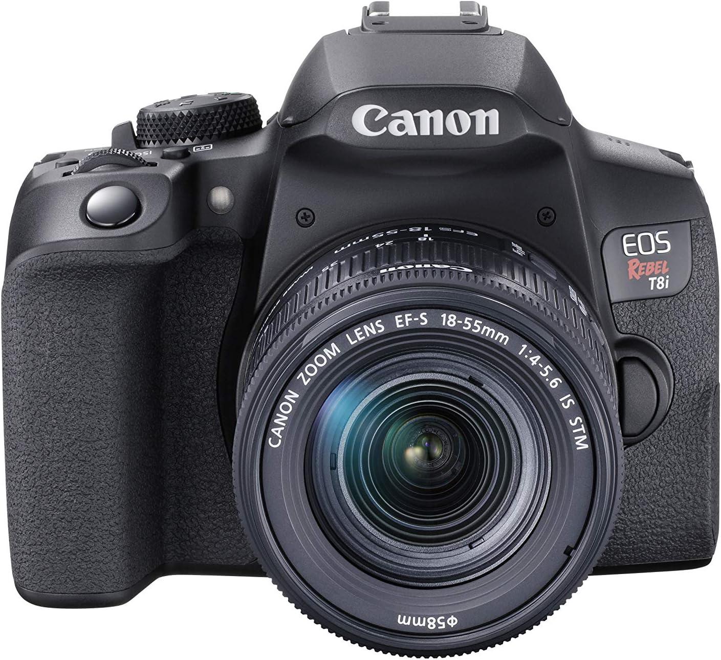Canon EOS Rebel T8i Large-scale sale EF-S 18-55mm STM Black Kit Lens Excellence is