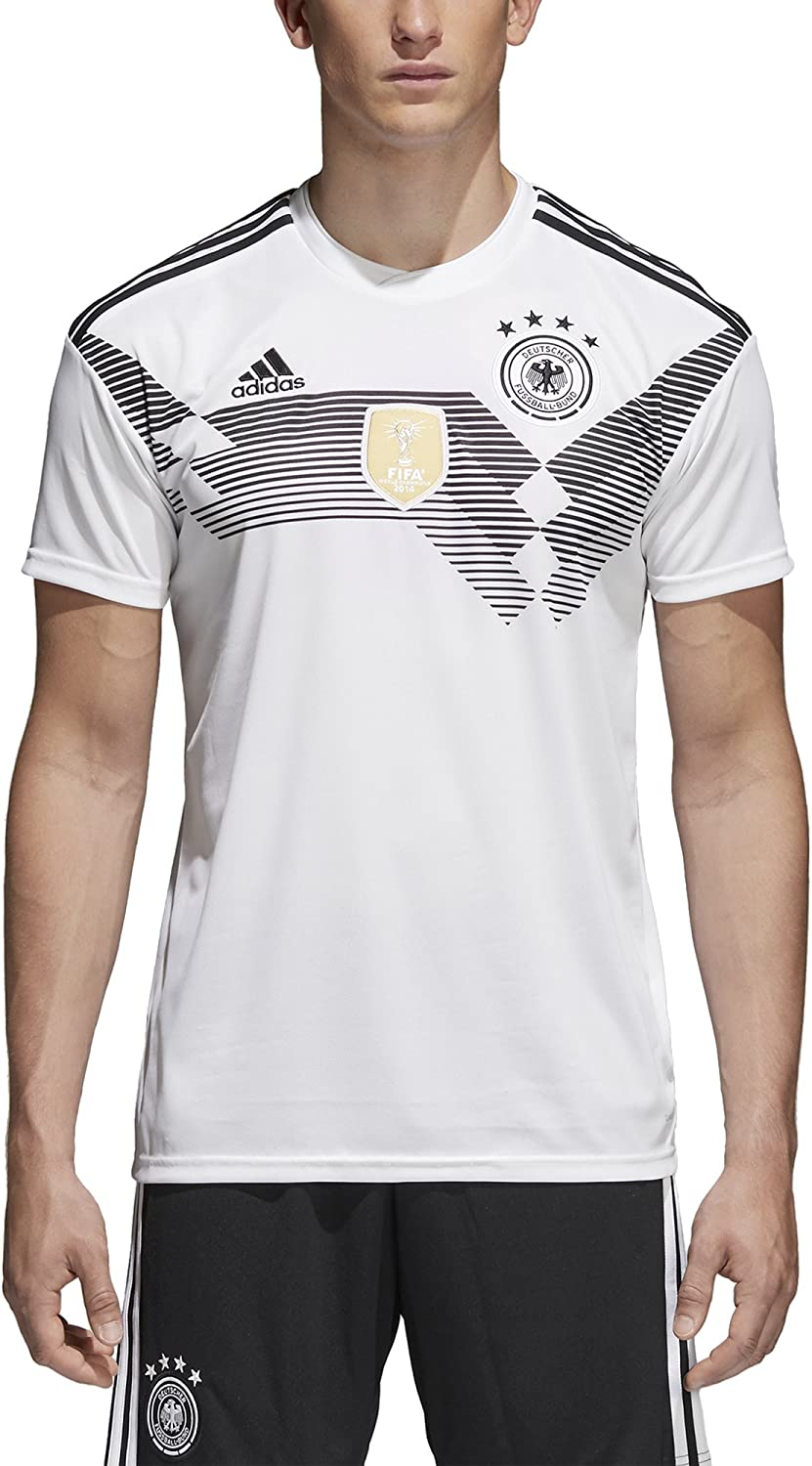 Luminancia Más lejano Desbordamiento  Amazon.com : adidas Germany 2018 Home Replica Jersey : Clothing