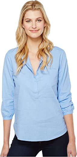 Linen Pleat Back Blouse