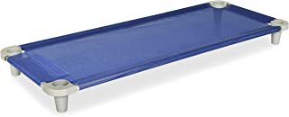 Acrimet Premium Stackable Nap Cot (Stainless Steel Tubes) (Blue Cot - Grey Feet) (1 Unit)