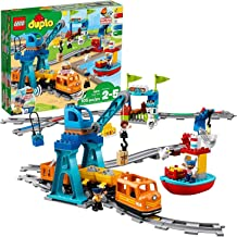 LEGO DUPLO Cargo Train 10875 Exclusive Battery-Operated Building Blocks Set, Best Engineering and STEM Toy for Toddlers (1...