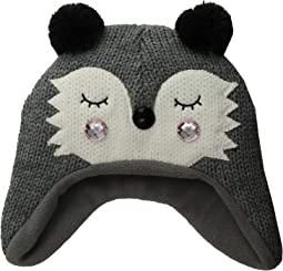 Knit Raccoon Beanie w/ Ear Flaps (Little Kids/Big Kids)