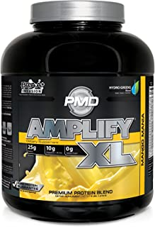 PMD Sports Amplify XL Superior Protein Supplement - Glutamine and Whey Protein Matrix with Superfood for Muscle, Strength and Recovery - Mango Mania - 48 Servings