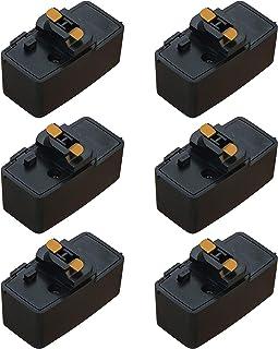 Abishion 引掛シーリングプラグ、ダクトレール用 取付簡単、100V/50-60Hz専用600W(6A)まで 、引掛シーリングボディ ライティングレール用 、PSE認証(黒い6個入り)