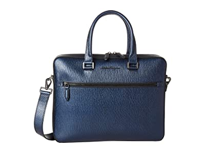 Salvatore Ferragamo Revival Meta Single Gusset Briefcase 24A107 (Navy) Wallet