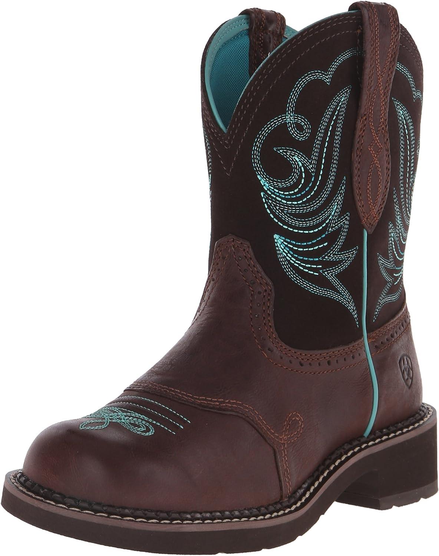 Ariat Women's Fatbaby Heritage Dapper Western Cowboy Boot, Royal Chocolate Fudge, 11 M US