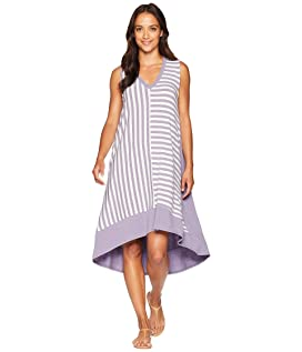 Sleeveless V-Neck Multi Stripe Dress