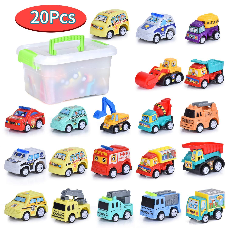 FORMIZON 20 Pcs Coches de Juguetes, Coche Metalico Juguete, Mini Coches Cars, Coches Juguete para Niños, Coches de ...