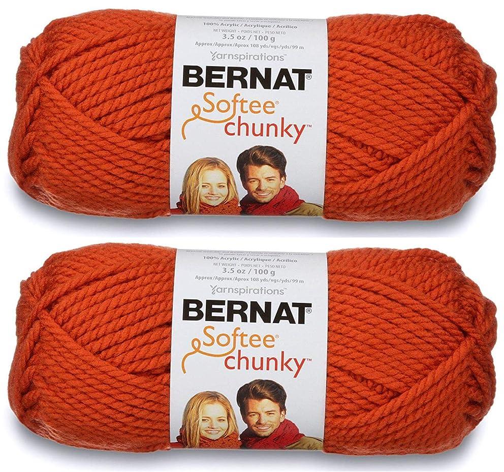 2-Pack - Bernat Softee Chunky Yarn, Pumpkin, Single Ball
