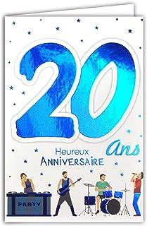 Amazonfr Carte Anniversaire 20 Ans Vêtements