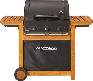 Campingaz Barbecue Gaz Adelaide 3 Woody L, 3 Brûleurs BBQ Gaz, Puissance 14kW, Grille et Plancha en Acier, 2 Tablettes Lat...