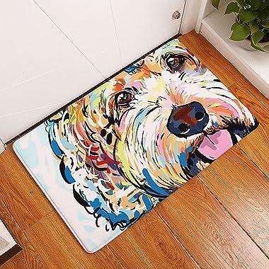 ASLD 40x60cm Encantador Perro diseño Piso Entrada Entrada Felpa Sala de Estar Alfombra Puerta Antideslizante Puerta baño Alfo